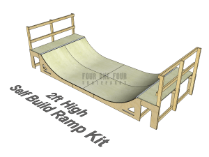 Skate Ramp Kit for Sale, Self Build, DIY Ramp 2ft High