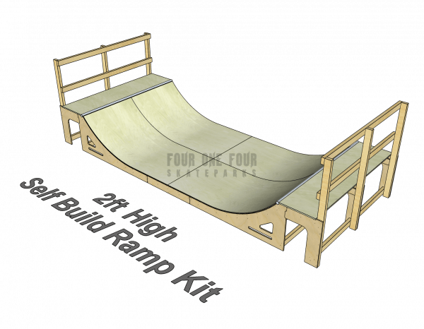 Skate Ramp Kit for Sale, Self Build, DIY Ramp 2ft High