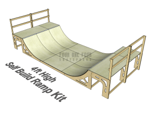 Skate Ramp Kit for Sale, Self Build, DIY Ramp 4ft High
