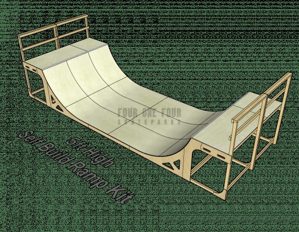 Skate Ramp Kit for Sale, Self Build, DIY Ramp 5ft High