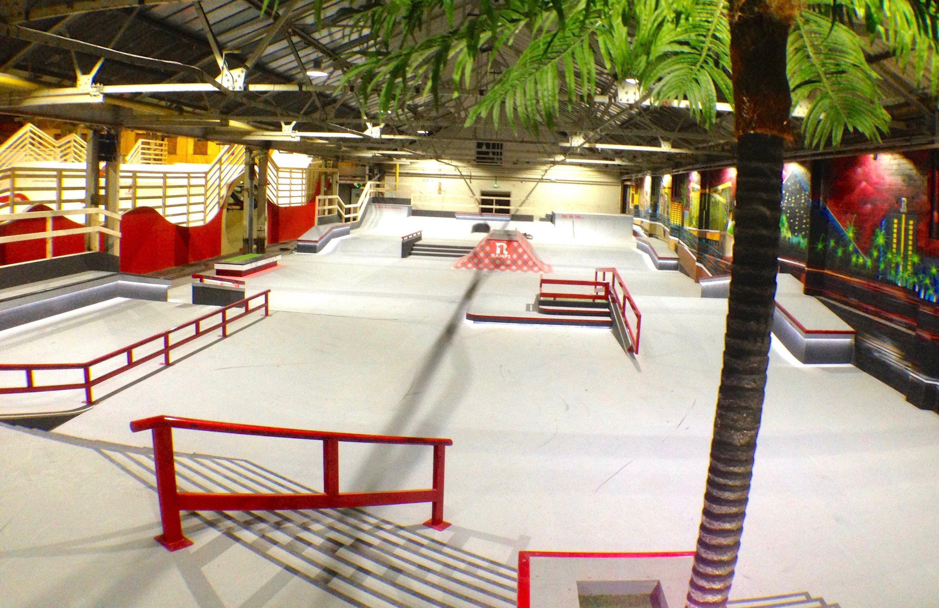 Indoor street Plaza skatepark